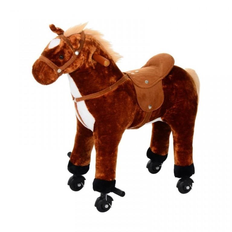 Jezdící kůň se zvuky, hnědý