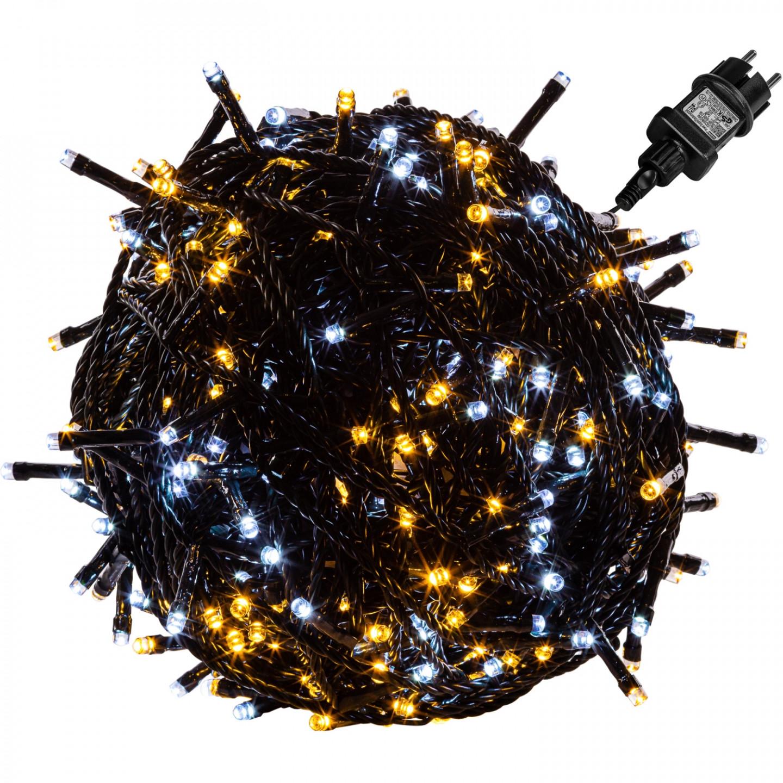 Goleto Vánoční LED osvětlení teplá a studená bílá | 600 LED