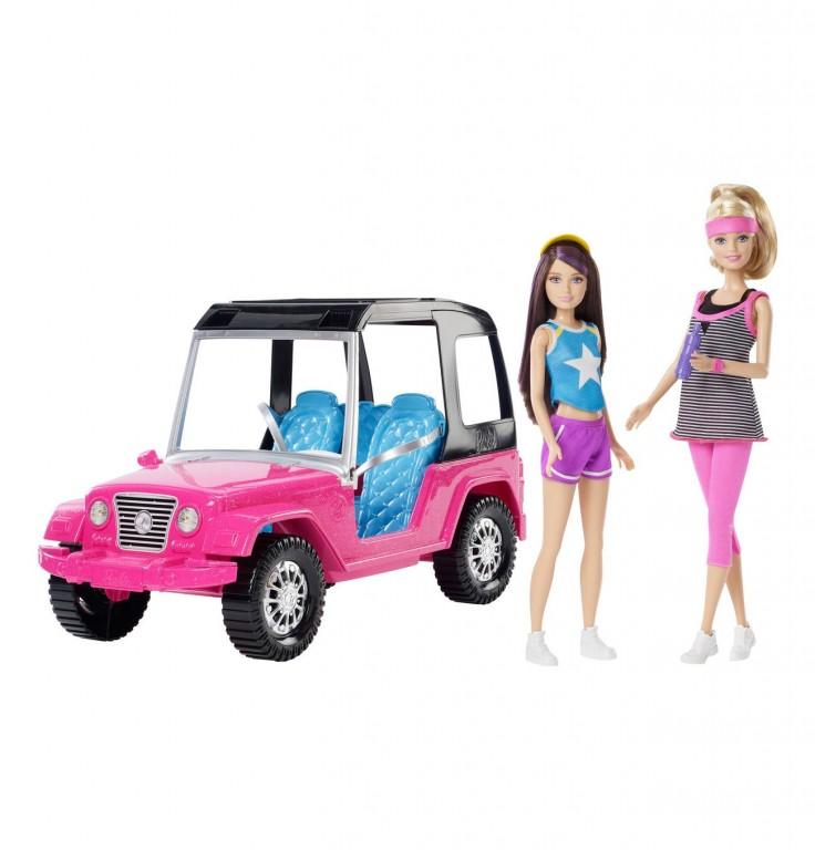Mattel Barbie auto SUV + 2 Barbie panenky
