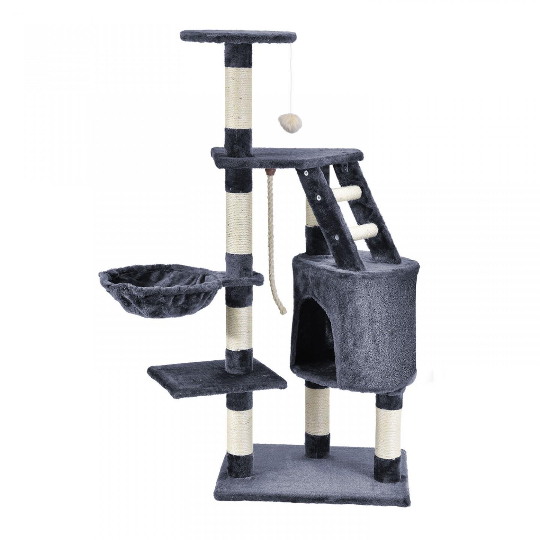 Goleto Škrabadlo pro kočky 118x50x40 cm | tmavě šedé