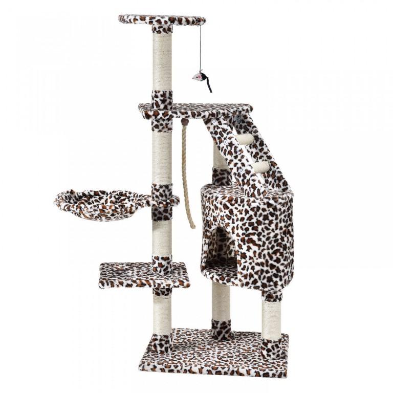 Škrabadlo pro kočky 118x50x40 cm   leopardí vzor