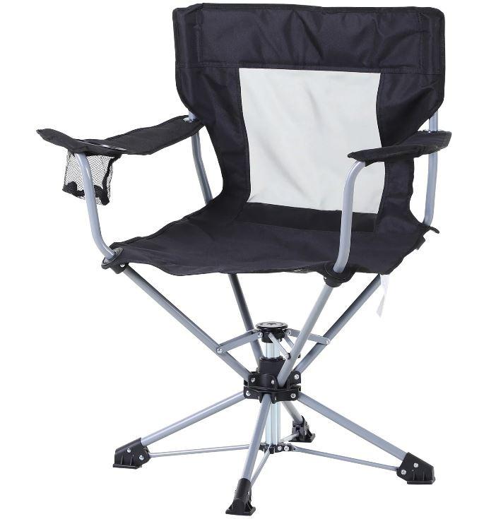 Goleto Campingová židle 81 x 64 x 89 cm | černá