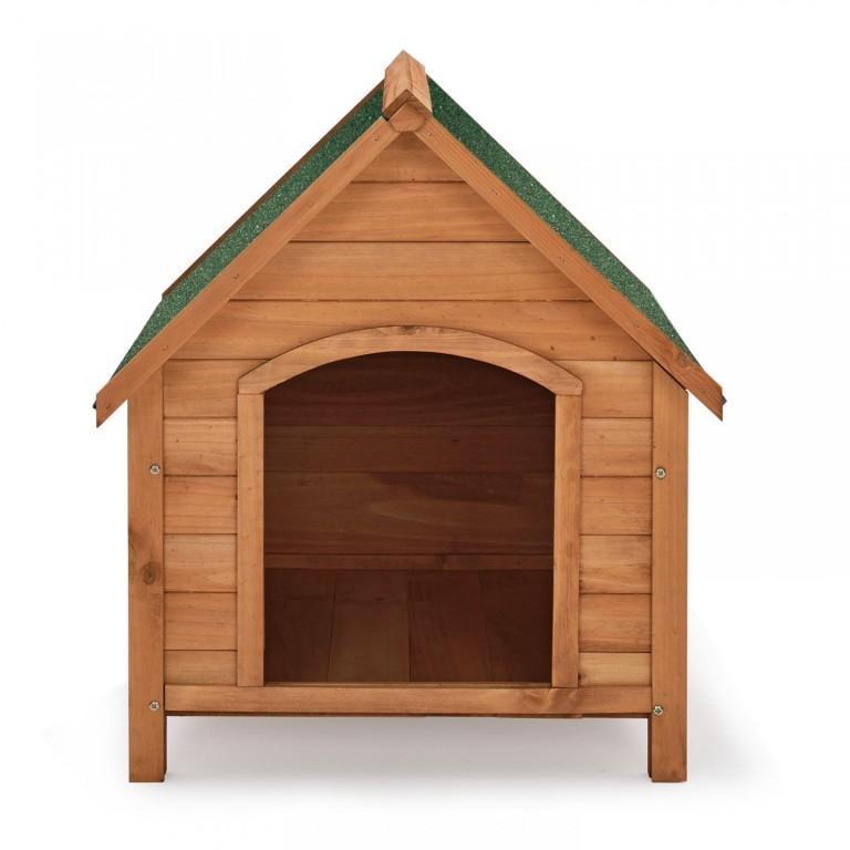 Dřevěná bouda pro psa s výklopnou střechou 71 x 88 x 83 cm