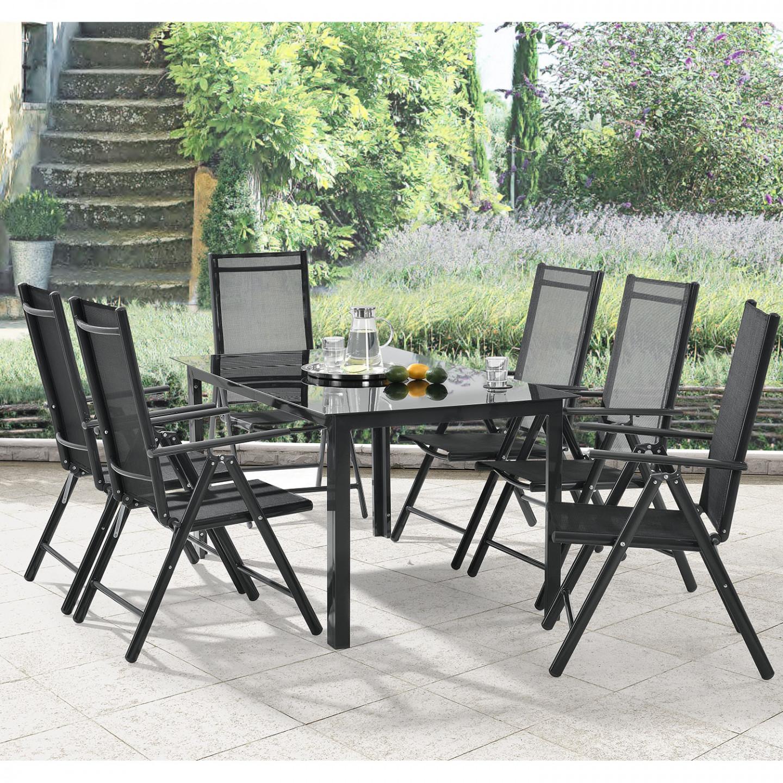 Goleto Zahradní hliníková sestava Milano | stůl + 6 židlí