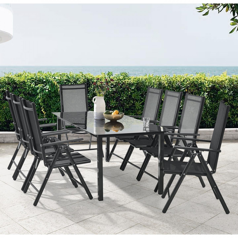 Goleto Zahradní hliníková sestava Milano | stůl + 8 židlí
