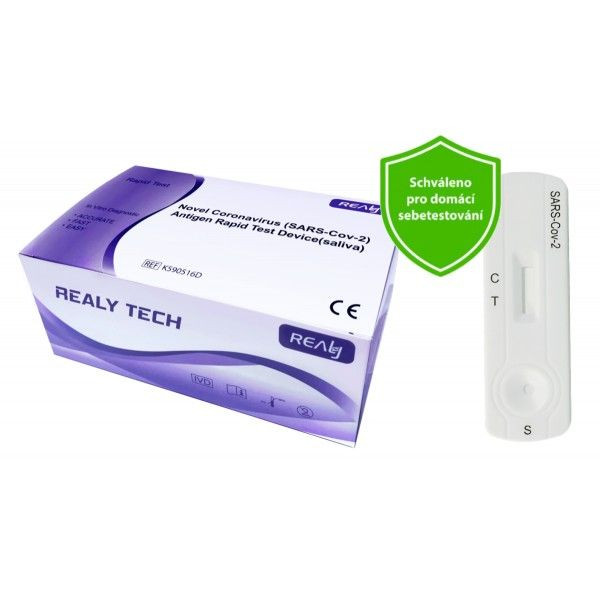 Hangzhou Realy Tech Novel Coronavirus SARS-Cov-2 Antigen Rapid Test Device saliva 20 ks