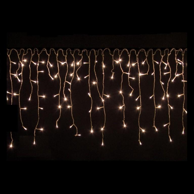Vánoční LED řetěz déšť 15 m, teplá bílá 600 LED