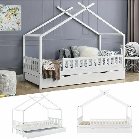 Goleto Dětská domečková postel Tipi 94 × 206 × 166 cm | bílá