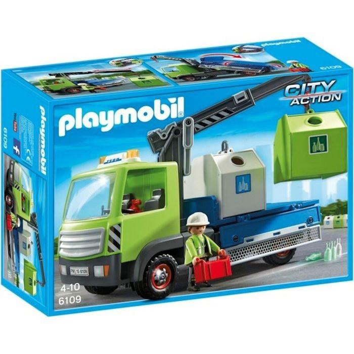 Playmobil Playmobil 6109 Nákladní vůz s kontejnery na sklo
