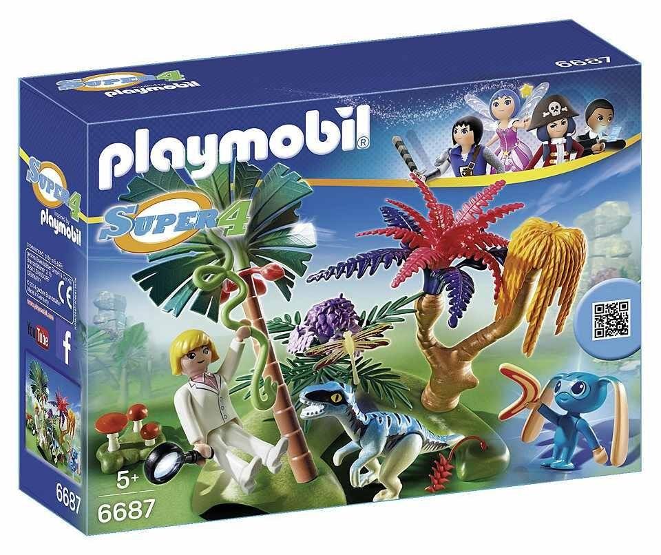 Playmobil Playmobil 6687 Ztracený ostrov s Alienem a raptorem Playmobil