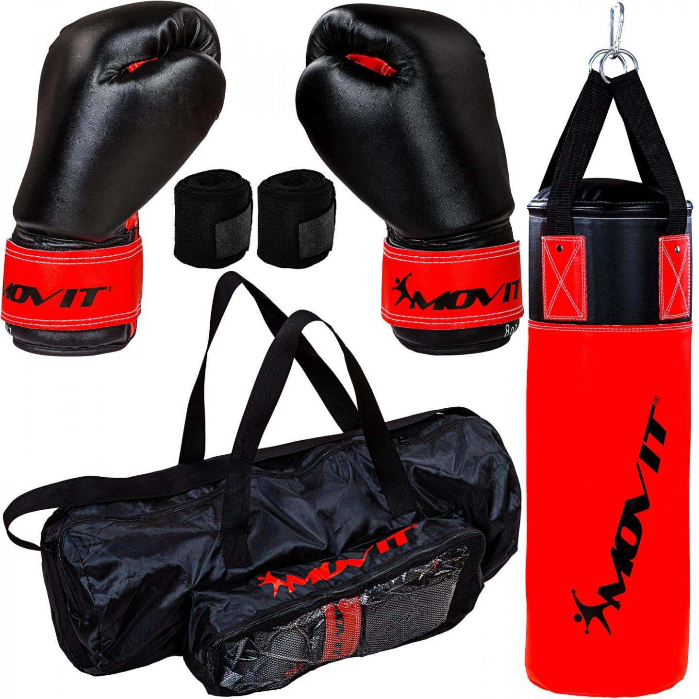Movit Dětský boxovací pytel 5,5 kg s příslušenstvím   černo-červený