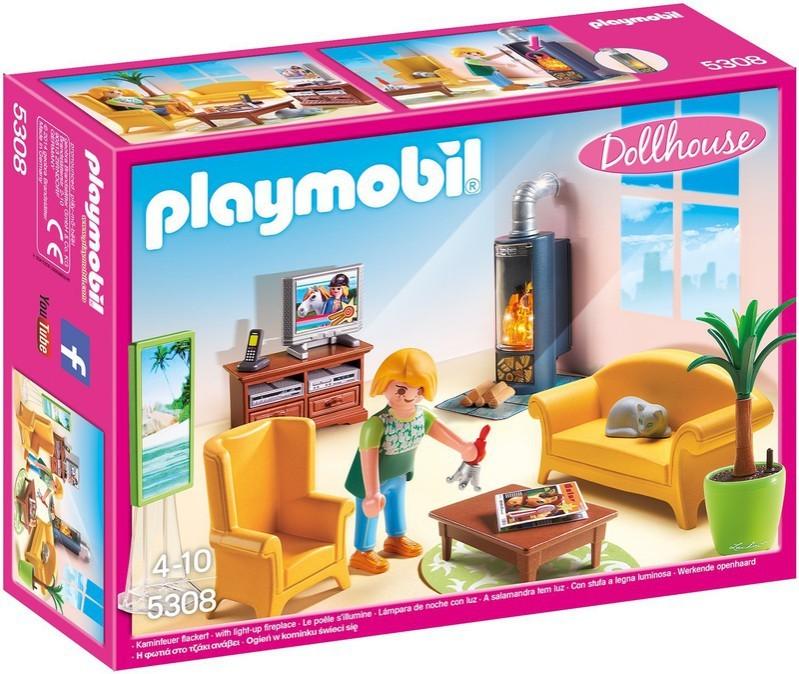 Playmobil Playmobil 5308 Obývací pokoj s krbem Playmobil