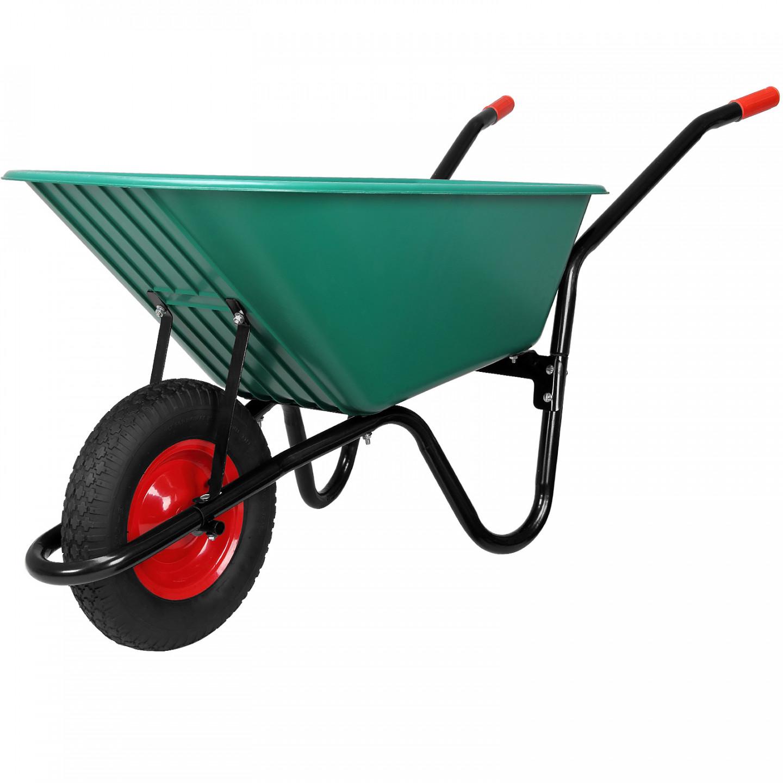 Goleto Zahradní kolečko plastové 100 l / 150kg | zelené