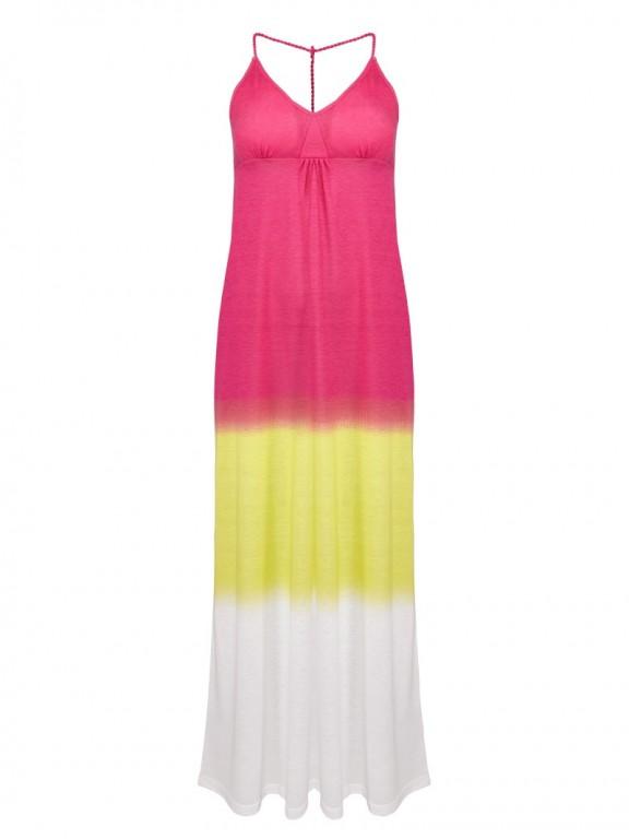 Dámské šaty | růžovo-žluto-bílé 32/34
