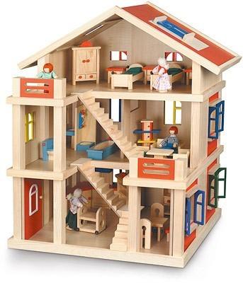 Dřevěný domeček pro panenky Bayer Chic 2000