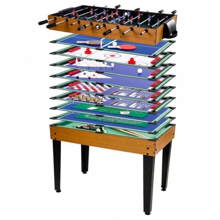 Multifunkční herní stůl Multigame 15 v 1, světlý