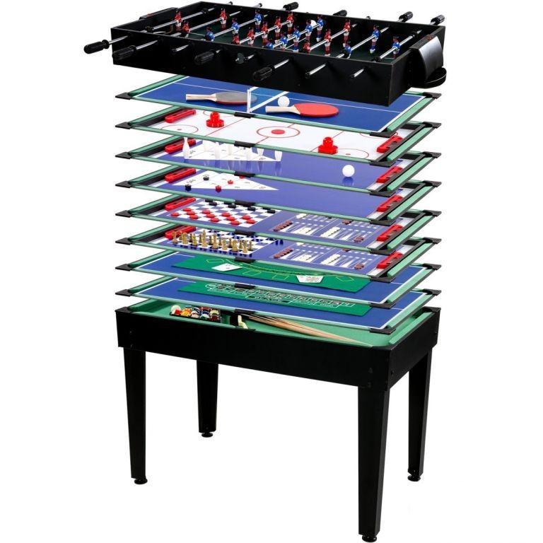 Multifunkční herní stůl Multigame 15 v 1, černý