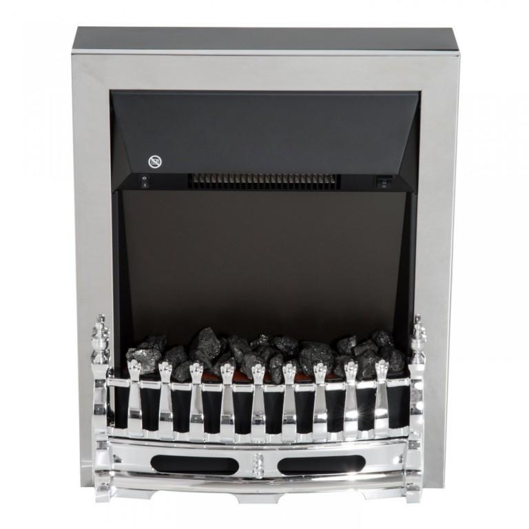 Elektrický krb LED 1000/2000W | stříbrný