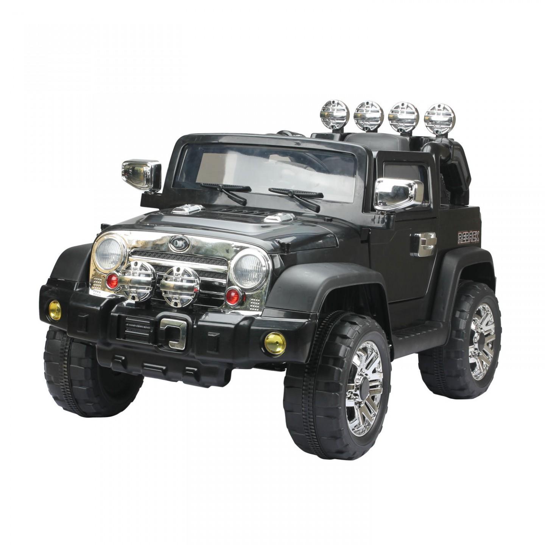 Goleto Dětské elektrické auto Jeep, černé