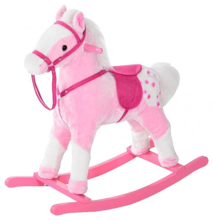 Houpací kůň se zvuky, růžový