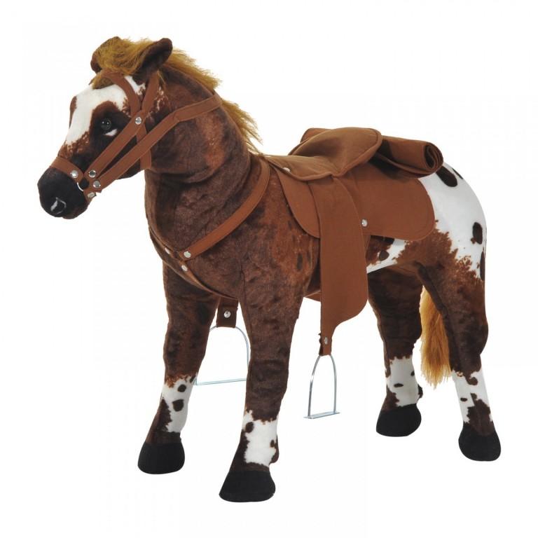 Dětský kůň se zvuky | tmavě hnědý