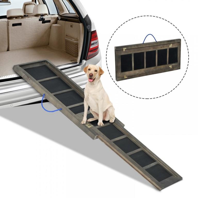 Nástupní skládací rampa do auta pro psy 165 x 43 cm