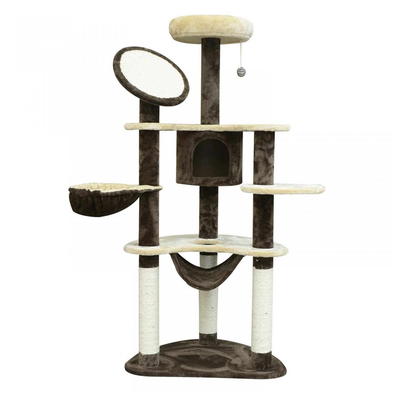 Goleto Škrabadlo pro kočky 153x50x65 cm   krémovo-hnědé
