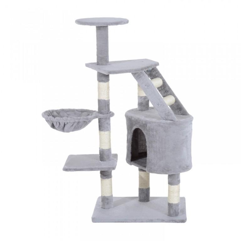 Škrabadlo pro kočky 118x50x40 cm   šedé