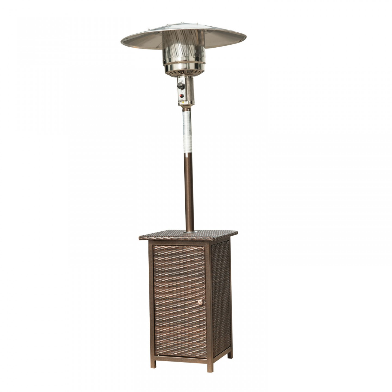 Zahradní tepelný plynový zářič ratan 8-12 kW GOLETO HEINZE 12RA