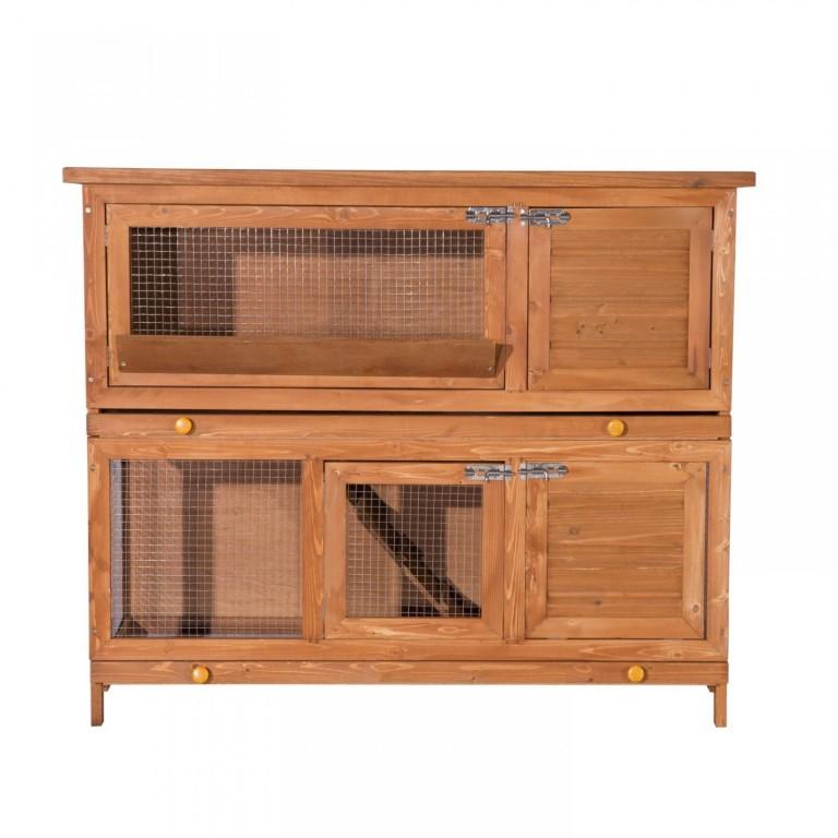 Dřevěná králíkárna 120 x 48 x 100 cm
