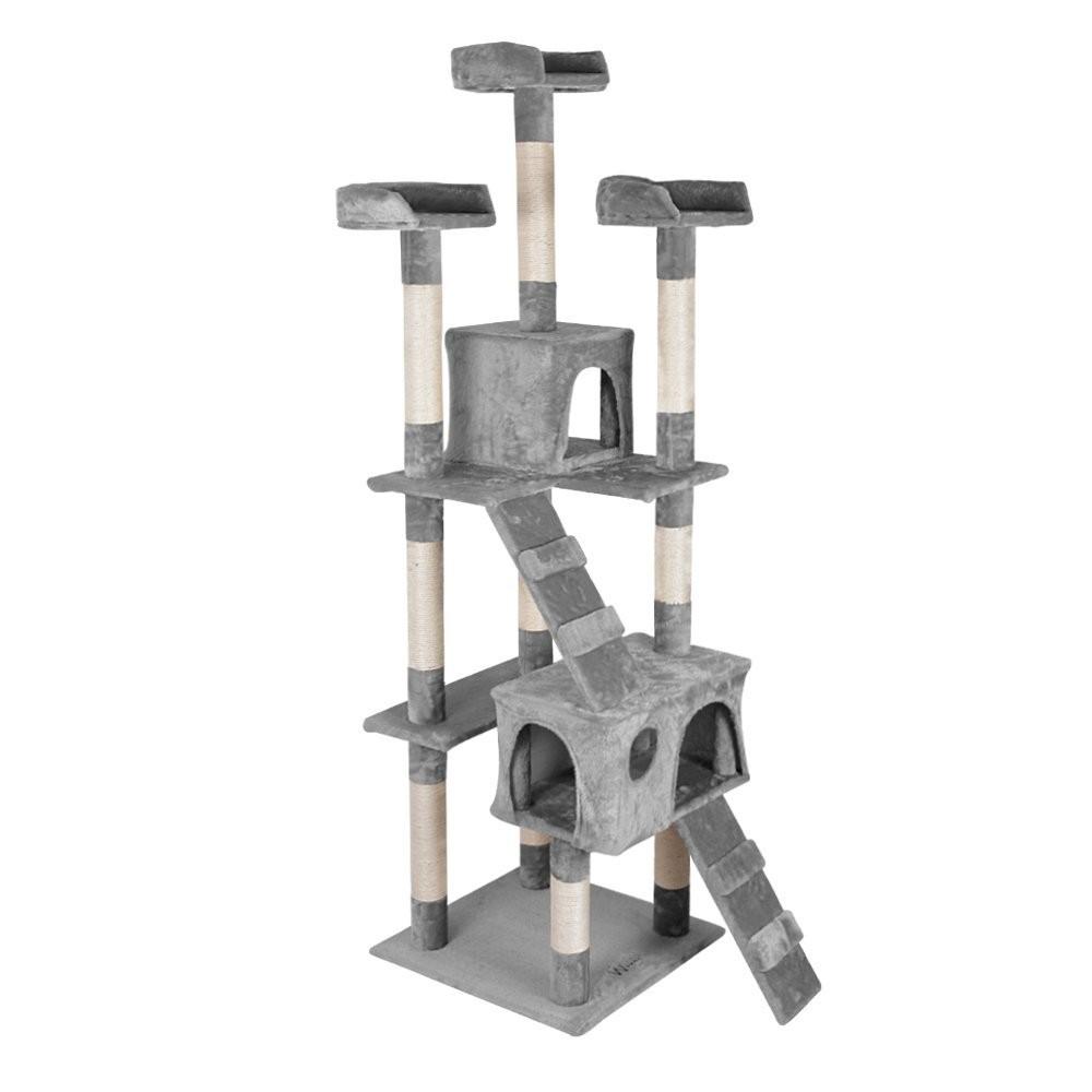 Goleto Škrabadlo pro kočky 170x62x75 cm | světle šedé
