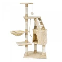 Škrabadlo pro kočky 118x50x40 cm | béžové č.1