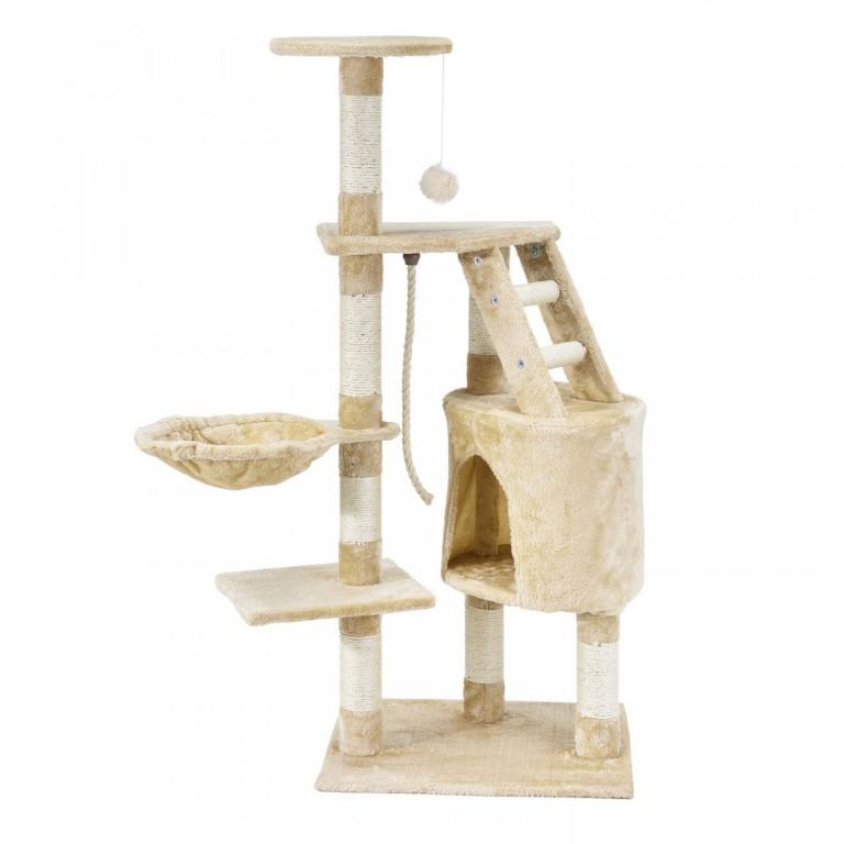Škrabadlo pro kočky 118x50x40 cm | béžové