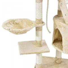 Škrabadlo pro kočky 118x50x40 cm, béžové č.4