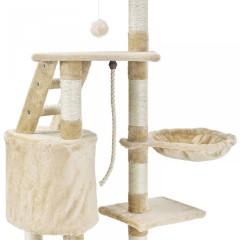 Škrabadlo pro kočky 118x50x40 cm | béžové č.5