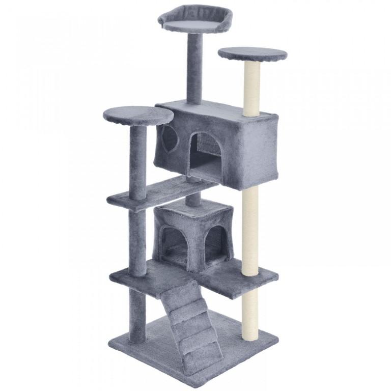 Škrabadlo pro kočky 130x49x49 cm   šedé