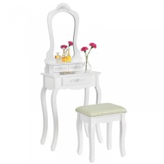 Originální vintage toaletní stolek se zrcadlem Sophia | bílý č.2