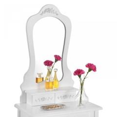 Originální vintage toaletní stolek se zrcadlem Sophia | bílý č.3
