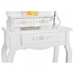 Originální vintage toaletní stolek se zrcadlem Sophia | bílý č.5