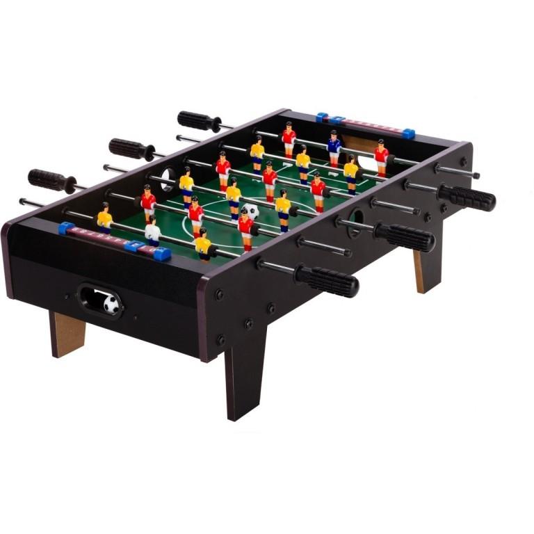 Mini stolní fotbal fotbálek s nožičkami 70x37x25 cm, černý