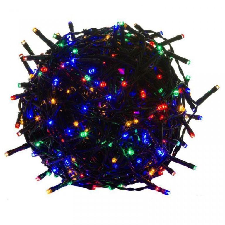 Vánoční LED osvětlení 5 m | barevné 50 LED | zelený kabel
