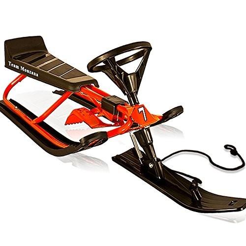 Dětský skibob sněžný skútr červený