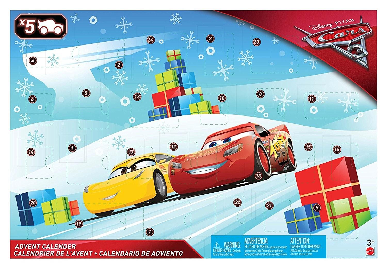 Mattel Adventní kalendář Cars Disney 2017