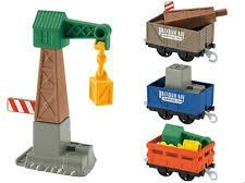 Fisher Price Tomáš a přátelé Jeřáb s vagónky