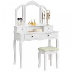 Originální vintage toaletní stolek se zrcadlem Fiona | bílý č.2