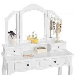 Originální vintage toaletní stolek se zrcadlem Fiona | bílý č.3