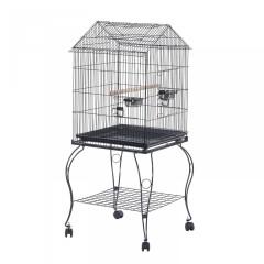Kovová ptačí voliéra s kolečky 51 x 51 x 137 cm č.2