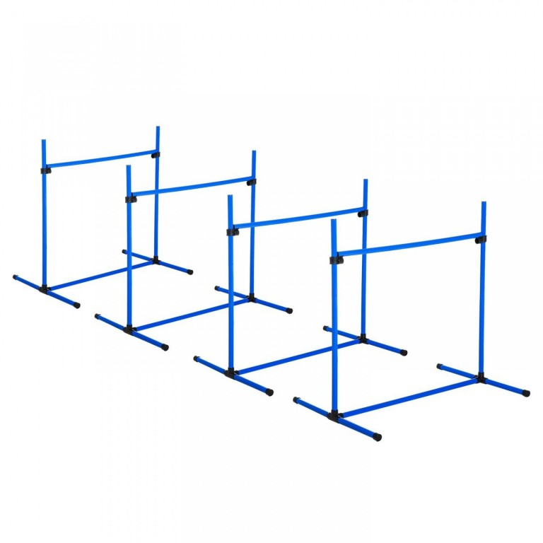 Agility překážky pro psy 95 x 65 x 95 cm| modrá