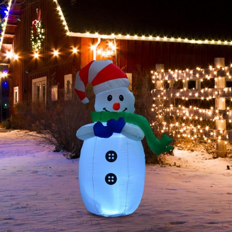 LED nafukovací sněhulák 120 cm