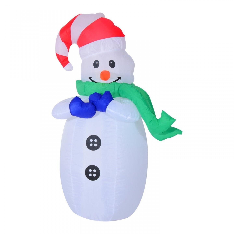 Goleto Nafukovací sněhulák s LED osvětlením 120 cm